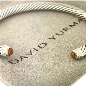 David Yurman 5mm cable Citrine & Diamonds bracelet